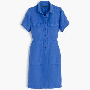 J crew cargo day dress chambray button down